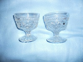 "2  Anchor Hocking WEXFORD 3 3/4"" Stemmed Ice Creams/Sherbets - $4.94"