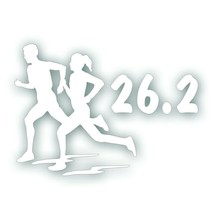 Marathon 26.2 COUPLE man woman girl running decal for Olympic mile runne... - $8.83