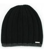 Michael Kors Wool Hat Beanie Mens Black One Size - $92.28