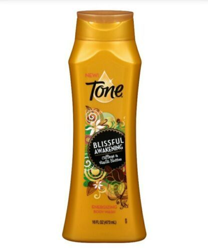 Primary image for Tone BLISSFUL AWAKENING energizing body wash Caffeine Vanilla Blossom 18 oz NEW