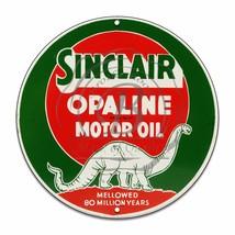 "Sinclair Opaline Motor Oil Design (Reproduction) 12"" Circle Aluminum Sign - $16.09"