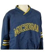 Vintage Pro Player Michigan Wolverines Pullover Nylon Windbreaker Jacket... - $17.89