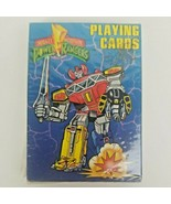 VINTAGE Mighty Morphin Power Rangers Playing Cards 1994 Factory Sealed - $35.50