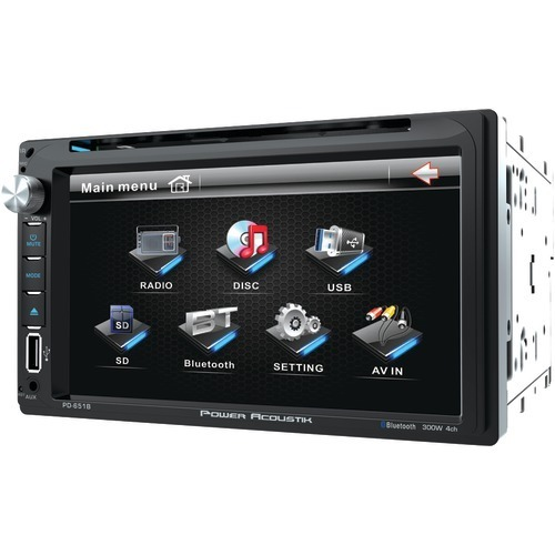 """Power Acoustik 6.5"""" Double-din In-dash Lcd Touchscreen Dvd Receiver (with Blueto - $162.26"""