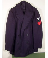 Vintage Navy Peacoat Pea Coat Size Large 42 - $59.99