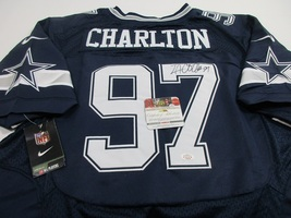 Taco Charlton - Hand Signed Dallas Cowboys Nfl Logo Football Jersey - Coa & Holo - $148.45