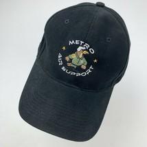 Metro Air Support Black Adjustable Adult Ball Cap Hat - $14.84