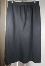 Women's Evan Picone Vintage Black Skirt Size 6 100% Worsted Wool SEE DES... - $17.41