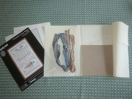 """1988 Janlynn A SAMPLER OF LOVE Counted Cross Stitch Kit #59-20 - 12"""" X 20""""  - $9.90"""