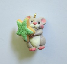Sweet Contribution Mouse Miniature Ornament Hallmark Keepsake 2001 New in Box - $8.97
