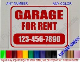 GARAGE FOR RENT SIGN Personalized CUSTOM WINDOW Signs auto repair shop c... - $22.99