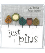 Walk In The Woods JP159 Just Pins set 5 for pincushions JABC Just Anothe... - $13.05