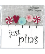 Peppermint Holiday JP157 Just Pins set 5 for pincushions JABC Just Anoth... - $13.05