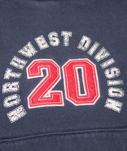 Boys 5/6 Eddie Bauer Northwest Division 20 Blue Long Sleeve Sweater Hoodie