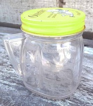 Vintage Osterizer Liquefier Mini Blend Plastic Container Yellow Screw To... - $6.99
