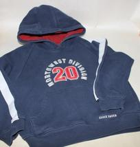 Boys 5/6 Eddie Bauer Northwest Division 20 Blue Long Sleeve Sweater Hoodie - $8.95