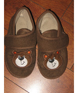 11-12 Kids Boys Girls Teddy Bear Velcro Brown Slippers Toddler Warm Unis... - $3.99