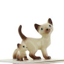 Hagen Renaker Miniature Cat Siamese Papa and Kitten Walking Ceramic Figurines image 9