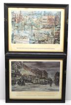 2 Syracuse Fayetteville Historical Framed Lithogaph Prints Onondaga Savi... - $26.17
