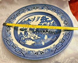 "Churchill Blue Willow Dinner Plate Made in Staffordshire, England 10 1/4"" image 3"