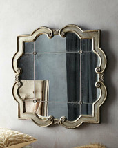 """Vintage French Restoration 36"""" Antiqued Wall Mirror Horchow Priscilla Rosettes - $420.35"""