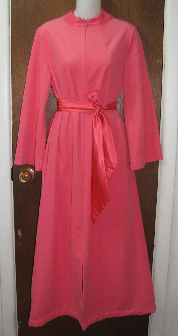 Vintage Loungewear by Gossard Long Zip Robe Pink Size Medium Gossard
