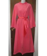 Vintage Loungewear by Gossard Long Zip Robe Pink Size Medium - $17.99