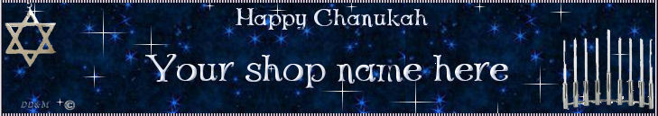 Web Banner Chanukkah Season Custom Designed   53a