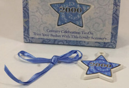 Longaberger Century Celebration 2000 Star Tie-On NEW in Box - $11.99