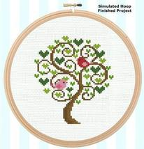 Tree Of Love (2 birds in a tree) cross stitch chart Pinoy Stitch - $4.00