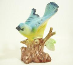 Vintage 1950s Bluebird Figurine Bird Japan Porcelain Figural Estate Beau... - $11.88