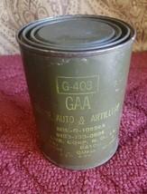 Vintage 1lb Military Grease Can Automotive Artillery  G-403 GAA B67 - $22.24