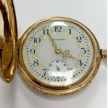 Excellent Condition Waltham Rare Vintage 14k Yellow Gold Pocket Watch - $2,871.00