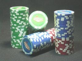 New 100 Las Vegas Casino Souvenir Poker Chips, Red, Green, Blue, No Value - $24.95