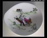 GOLF NOVELTY DISH - Queensberry Crown Staffordshire Fine Bone China - 5 inches