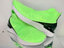 $175 NEW SIZE 10.5 MEN Nike Rise React FLYKNIT MOC Lime Blast RUNNING SH... - $98.99