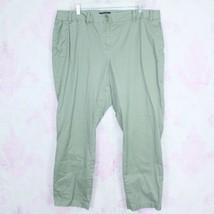 Talbots 18W Green Signature Fit Chino Style Stretch Straight Leg Pants P... - $34.64