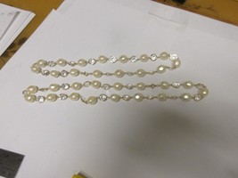 """Costume Jewelry ,  Necklace , Pearl / White , 22"""" and 20"""" , Lot of 2  - $34.65"""