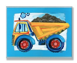 Stupell Industries The Kids Room Yellow Dump Tr... - $14.54