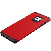 Samsung Galaxy S6 Edge Plus + Shock Proof Hybrid Protective Hard Case Cover Red - $7.03