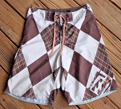 Billabong Size 29 Board Shorts Swimsuit Surfing Men's Swim Brown & Cream... - $18.99