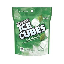 Ice Breakers Gum, Sugar Free Ice Cubes with Xylitol, Spearmint, 100 Piec... - $13.99