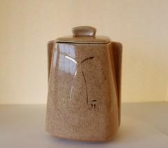 Vintage Stanford Sebring MCM Atomic Cookie Jar/ Canister Brown Speckle EVC! - $25.00