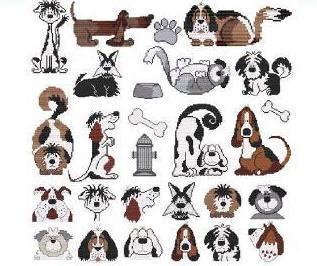 Primary image for Pound Hounds dog cross stitch chart Cross Stitch Wonders