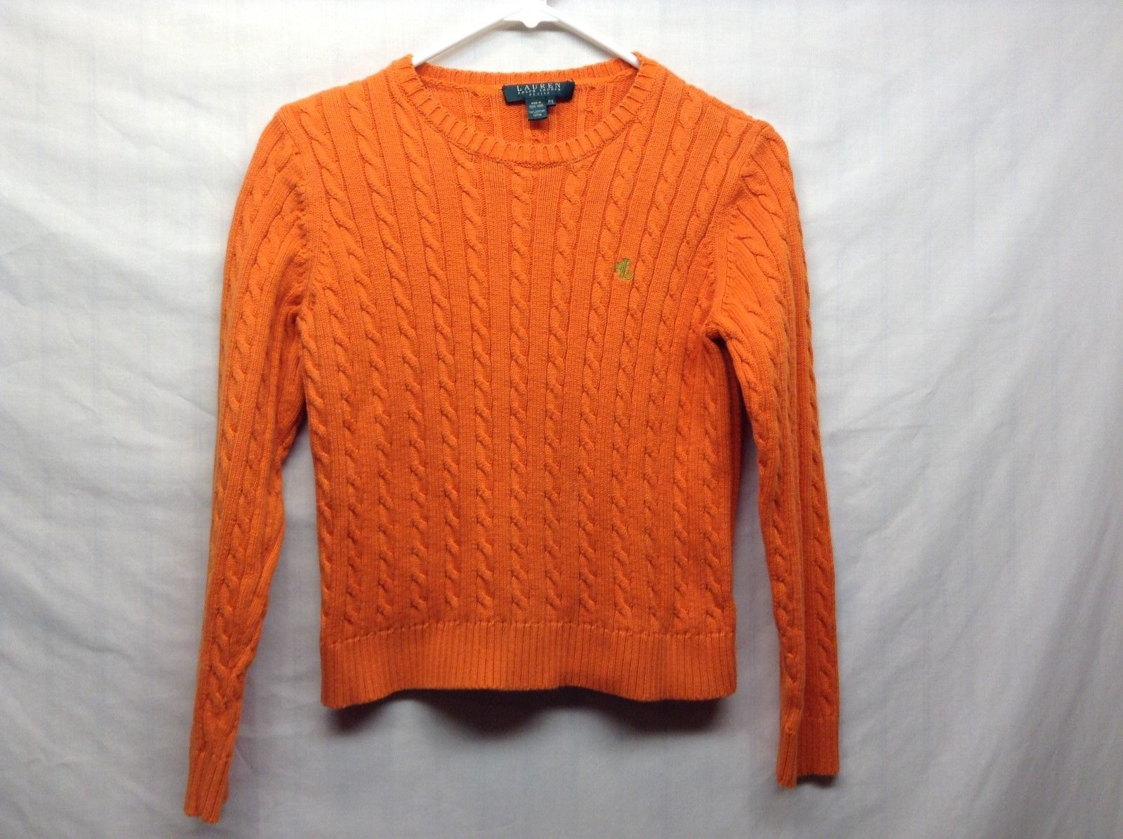 Ralph Lauren Petites Orange Heavyweight Sweater Sz PS