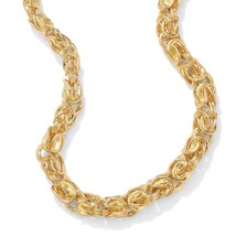 """Byzantine-Link Necklace in Yellow Gold Tone 20"""" - $34.49"""