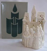 PartyLite Holiday Christmas Bisque Village Carolers P0204 Candle Tealigh... - $18.80