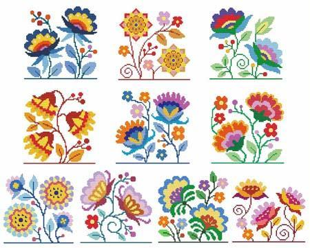 Primary image for Jacobean Flowers cross stitch chart Cross Stitch Wonders
