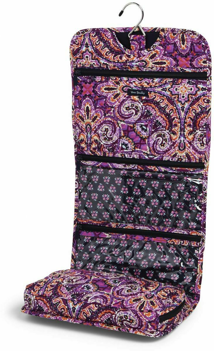 Vera Bradley Iconic Hanging Travel Organizer NWT Dream Tapestry Purple Packable image 3
