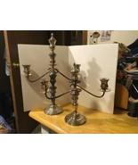 Vtg Silver on Copper Candleabra Tokyo Art Works - $93.49